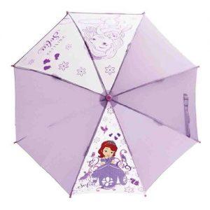 ディズニー 子供用 長傘 手開き キャラ パレード 小さなプリンセスソフィア 8本骨 45cm 105~115cm 窓付き傘
